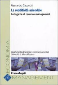 La redditività aziendale. Le logiche di revenue management