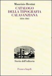 Catalogo della tipografia Calasanziana (1816-1861)