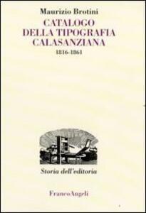 Catalogo della tipografia Calasanziana (1816-1861)