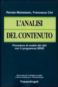 L' analisi del contenuto. Procedure di analisi dei dati con il programma SPAD