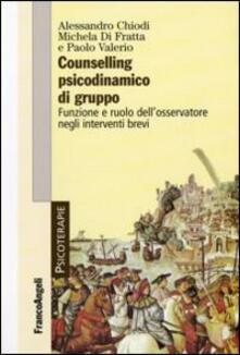 Camfeed.it Counselling psicodinamico di gruppo. Funzione e ruolo dell'osservatore negli interventi brevi Image