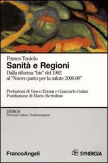 Promoartpalermo.it Sanità e Regioni. Dalla riforma «bis» del 1992 al «Nuovo patto per la salute 2006-2008» Image