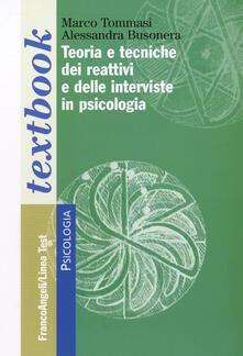 Ipabsantonioabatetrino.it Teoria e tecniche dei reattivi e delle interviste in psicologia Image