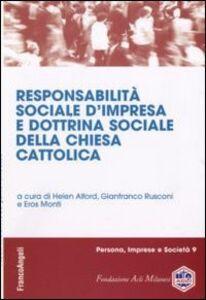 Libro Responsabilità sociale d'impresa e dottrina sociale della chiesa cattolica