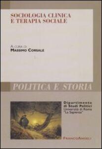 Libro Sociologia clinica e terapia sociale