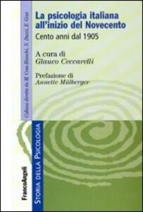 La psicologia italiana all'inizio del Novecento. Cento anni dal 1905