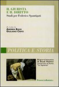 Foto Cover di Il giurista e il diritto. Studi per Federico Spantigati, Libro di  edito da Franco Angeli