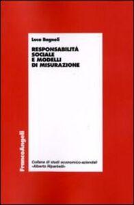Responsabilità sociale e modelli di misurazione