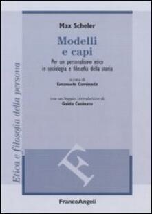 Camfeed.it Modelli e capi. Per un personalismo etico in sociologia e filosofia della storia Image