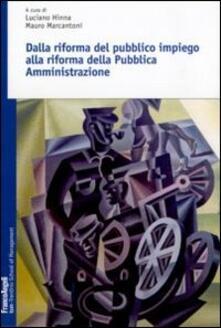 Antondemarirreguera.es Dalla riforma del pubblico impiego alla riforma della pubblica amministrazione Image