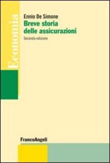Breve storia delle assicurazioni - Ennio De Simone - copertina