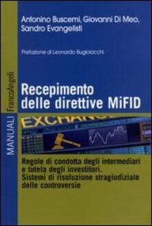 Voluntariadobaleares2014.es Recepimento delle direttive MiFID. Regole di condotta degli intermediari e tutela degli investitori. Sistemi di risoluzione stragiudiziale delle controversie Image