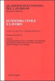 Economia civile e lavoro - copertina