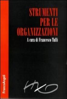Strumenti per le organizzazioni - copertina