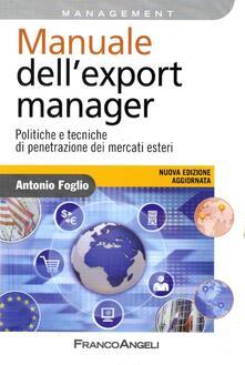 Listadelpopolo.it Manuale dell'export manager. Politiche e tecniche di penetrazione dei mercati esteri Image