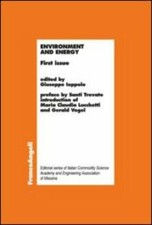 Environment and energy. First issue - copertina