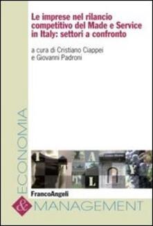 Le imprese nel rilancio competitivo del made e service in Italy: settori a confronto - copertina