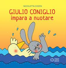 Giulio Coniglio impara a nuotare - Nicoletta Costa - copertina