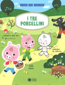 I tre porcellini. Con adesivi. Ediz. a colori - Delphine Blétry - copertina