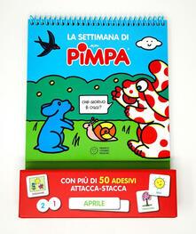 La settimana di Pimpa. Ediz. a colori. Ediz. a spirale. Con Adesivi - Altan - copertina