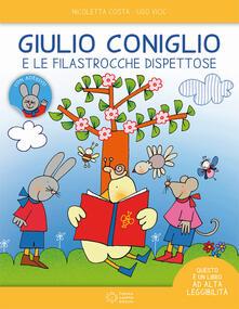 Amatigota.it Giulio Coniglio e le filastrocche dispettose. Ediz. ad alta leggibilità. Con adesivi Image