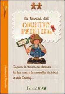 La tecnica del country painting - copertina