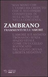 Libro Frammenti sull'amore María Zambrano