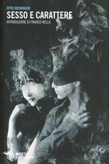Sesso e carattere - Otto Weininger - copertina