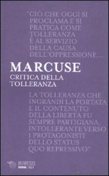 Critica della tolleranza - Herbert Marcuse - copertina