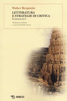 Letteratura e strategie di critica. Frammenti I.pdf