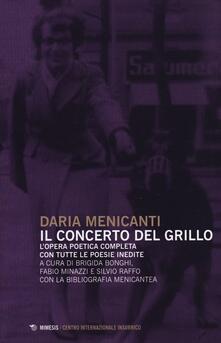 Librisulrazzismo.it Il concerto del grillo. L'opera poetica completa con tutte le poesie inedite Image