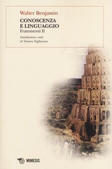 Conoscenza e linguaggio. Frammenti II.pdf