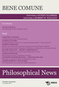 Philosophical news (2013). Vol. 6: Bene comune.
