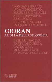 Image of Al di là della filosofia. Conversazioni su Benjamin Fondane