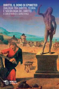 Diritto, il dono di Epimeteo. Dialoghi tra diritto, teoria e sociologia del diritto - copertina