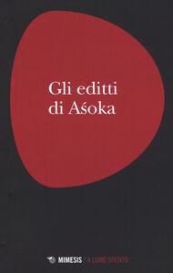 Libro Gli editti di Asoka