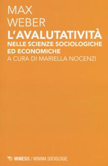 Ipabsantonioabatetrino.it L' avalutatività nelle scienze sociologiche ed economiche Image