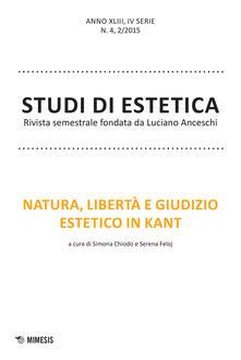 Squillogame.it Studi di estetica (2015). Vol. 2: Natura, libertà e giudizio estetico in Kant. Image