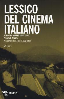 Chievoveronavalpo.it Lessico del cinema italiano. Forme di rappresentazione e forme di vita Image