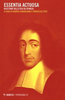 Steamcon.it Essentia actuosa. Riletture dell'etica di Spinoza Image