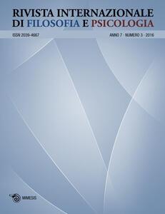 Rivista internazionale di filosofia e psicologia (2016). Vol. 3