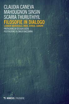 Filippodegasperi.it Filosofie in dialogo. Lexikon universale: India, Africa, Europa Image