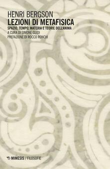 Radiospeed.it Lezioni di metafisica. Spazio, tempo, materia e teorie dell'anima Image