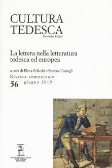 Antondemarirreguera.es Cultura tedesca (2019). Vol. 56: lettera nella letteratura tedesca ed europea (Giugno), La. Image