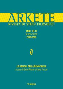 Grandtoureventi.it Arkete. Rivista di studi filosofici (2018-2019). Vol. 3-4 Image
