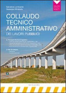Collaudo tecnico-amministrativo dei lavori pubblici. Con CD-ROM
