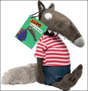 il lupo amico lupo libro peluche grande
