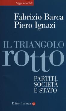 Il triangolo rotto. Partiti, società e Stato - Fabrizio Barca,Piero Ignazi - copertina