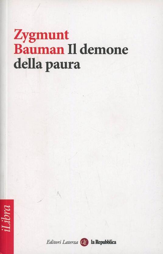 Il demone della paura - Zygmunt Bauman - copertina