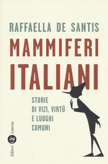 Antondemarirreguera.es Mammiferi italiani. Storie di vizi, virtù e luoghi comuni Image